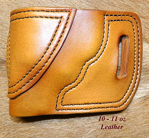 Gary C's Leather OWB Avenger LH Leather Holster for the S&W J Frame 2