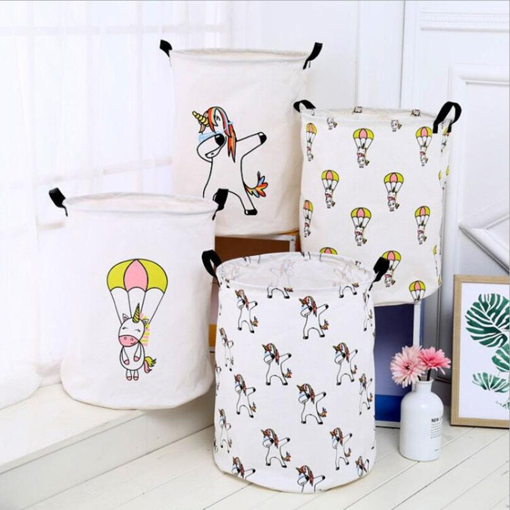 MagiDeal Cute Animal Cloth Laundry Storage Basket Bedroom Office Toy Clothes Sundries - Multiple Unicorn by Unknown (Image #4)