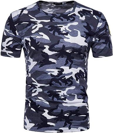 SWISSWELL Camisetas Hombre Camuflaje, Hombres Militares Camisetas Deporte Ropa Deportiva Camisa de Manga Corta de Camuflaje Slim Fit Casual para Hombres Tops t Shirt Men Gym: Amazon.es: Ropa y accesorios