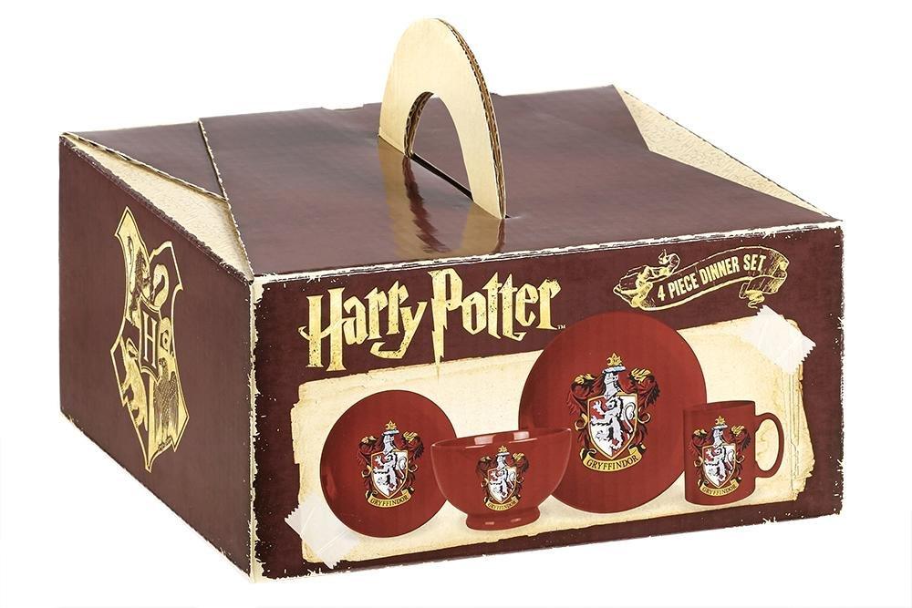 Set de Vajilla de 4 piezas Harry Potter Gryffindor