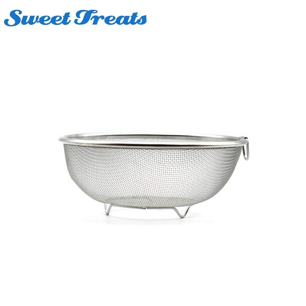 Tyro Edelstahl-Abtropfkorb, für Obst, Gemüse, Waschsieb, Auslauf, Waschbecken, Schüssel, Waschen Obstkorb