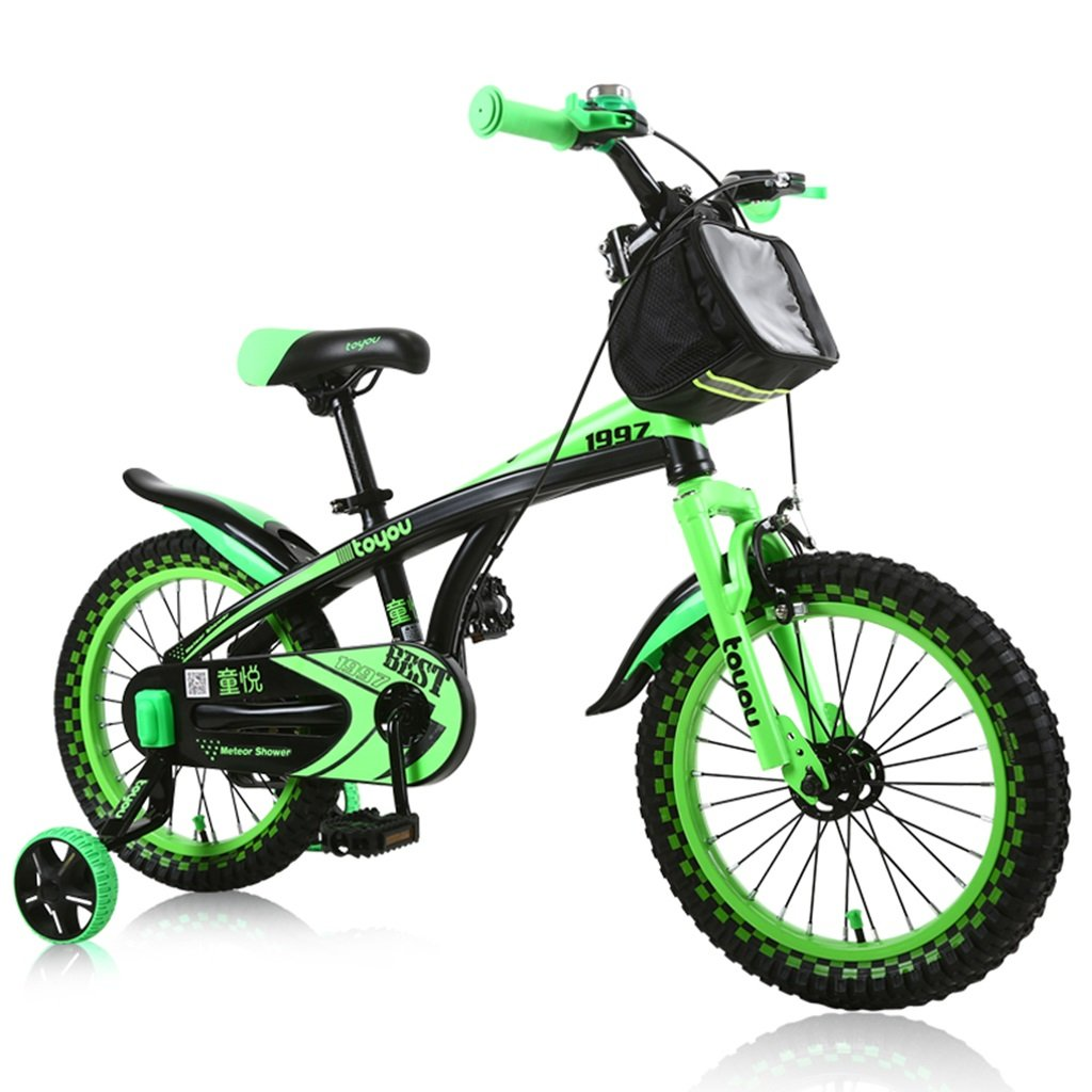 CSQ 男子生徒に適した子供用自転車補助車輪付きの市街地の布バスケット高炭素鋼の滑り止め技術3-9歳100-121CM 子供用自転車 (色 : B, サイズ さいず : 121CM) B07DXJDDCS 121CM|B B 121CM
