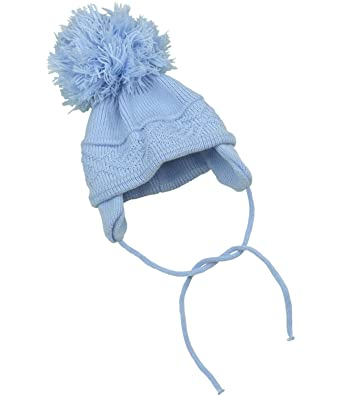 4608d7c1e80b Amazon.com  BabyPrem Baby Hat Cross Knit Pom Pom Winter Warm Clothes ...