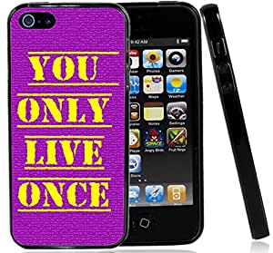 IP5 YOLO You Only Live Once Iphone5 5G Case Cover Purple Yellow