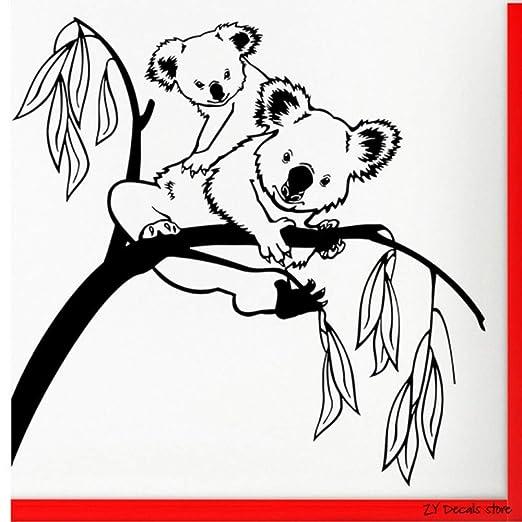 Árbol tatuajes de pared lindo Koala etiqueta de la pared para el ...