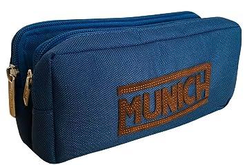 Munich 252824 Leather Neceser, 21 cm, Azul Marino: Amazon.es ...