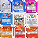Kellogg's & General Mills Cereal Variety: Special K, Raisin Bran, Rice Krispies, Frosted Flakes, Cinnamon Toast Crunch, Honey Nut Cheerios, Lucky Charms, Reese's Puffs & By The Cup Cereal Marshmallows