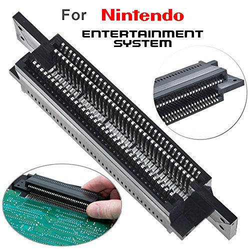 TraderPlus 72 Pin Replacement Connector Cartridge Slot for Nintendo NES 8 Bit System