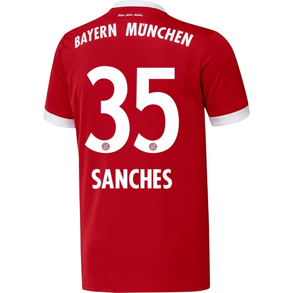 Bayern Munich Home Sanches Jersey 2017 / 2018 (公式印刷) B073WCZBQBL
