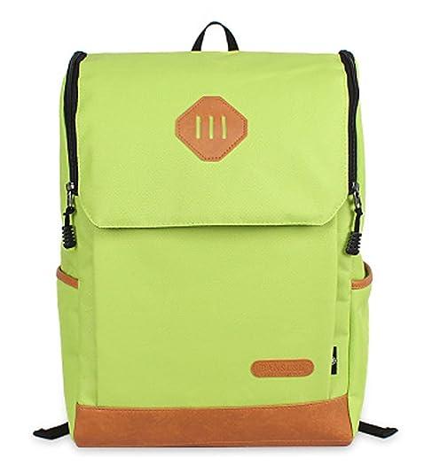 OULINBEIN Cool College School Laptop Mochila Pack con patrón de hermosos hecho de Dacron Verde: Amazon.es: Zapatos y complementos