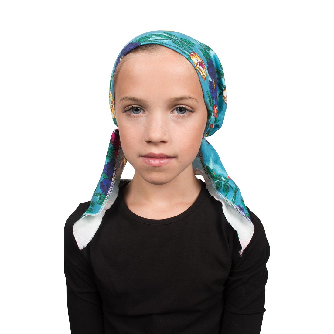 Chemo Cap Pretied for Girls Soft Cotton Cancer Scarf - Peaceful Garden