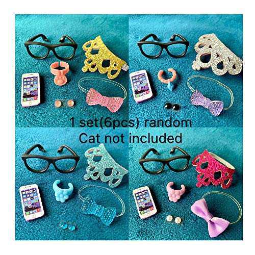 lps Accessories(Pet not Included), 4PC Random lps Accessories Bows Clothes Earrings Collars Necklace for lps Pet -