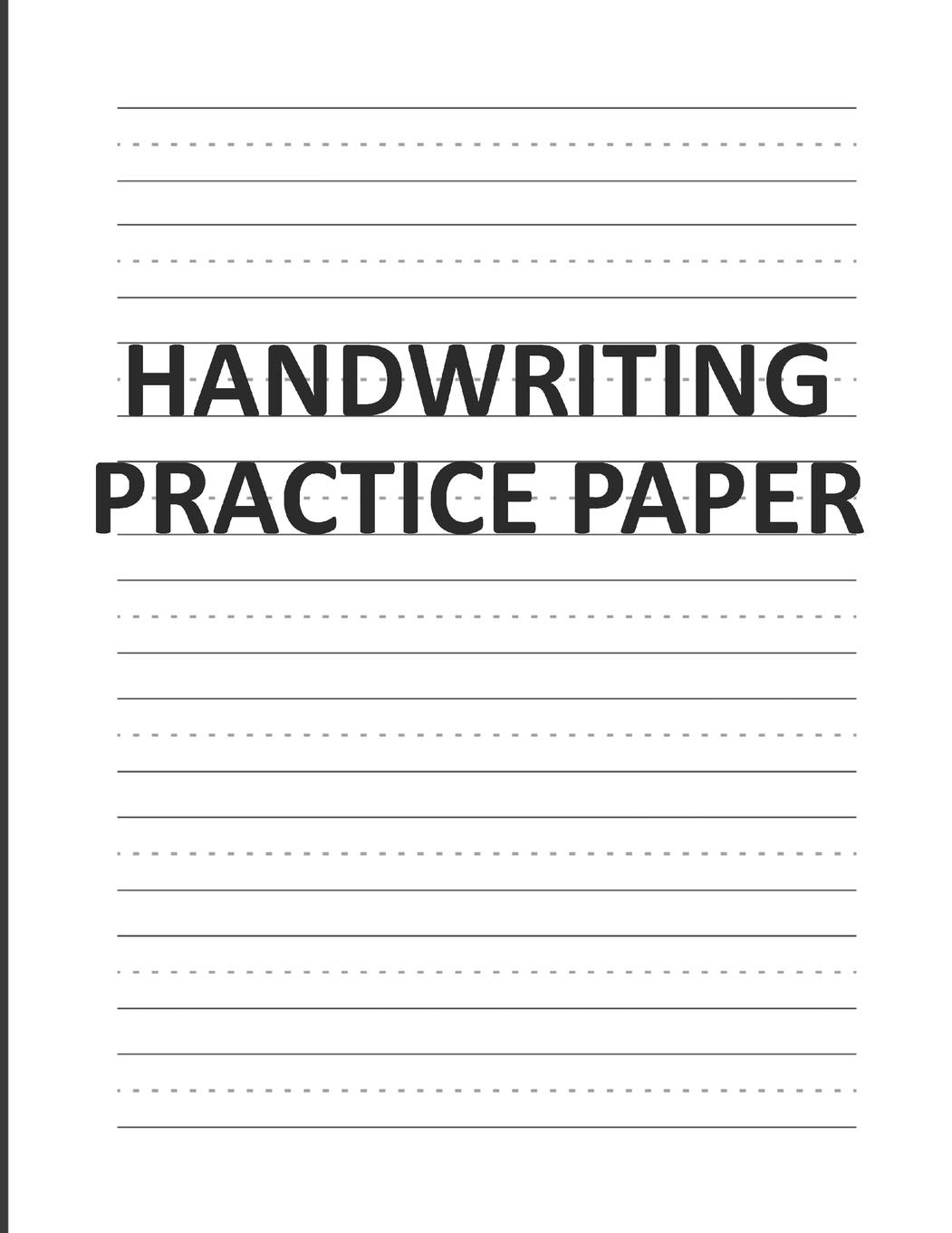 Handwriting Practice Paper Lined Writing Sheets Notebook For Kids