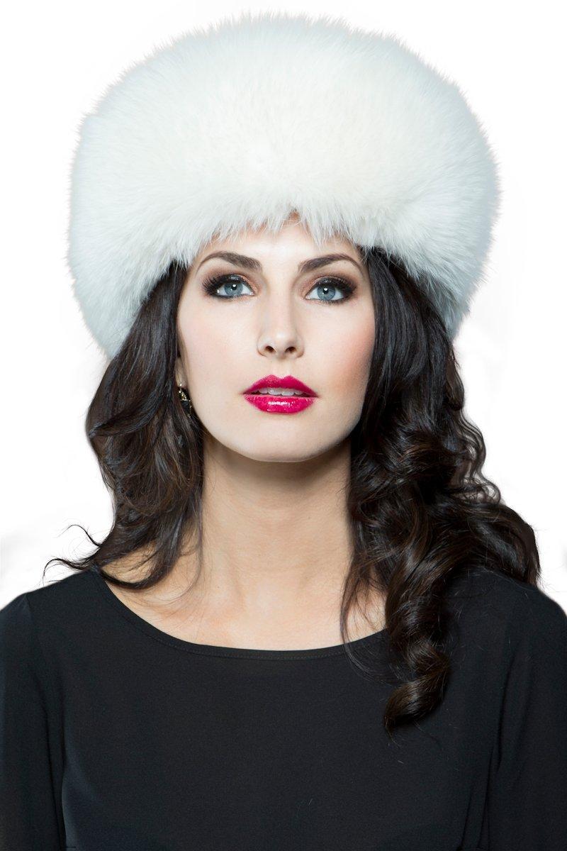 EM-EL Women's White Fox Fur Headband