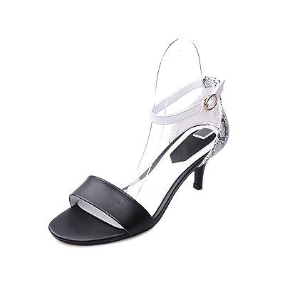 Chaussures Sandales Femmes Fines et Creuses Toe Ouvert avec Boucle Wild High Heels