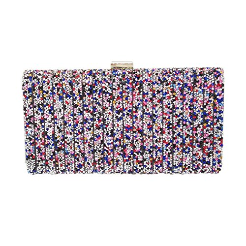 Hot ColorGold Bag Bag Rhinestone Fashion Clutch Bag Handbag Bag Color Mini Banquet Chain Diamond Crystal Dinner Evening Ladies WRTctt