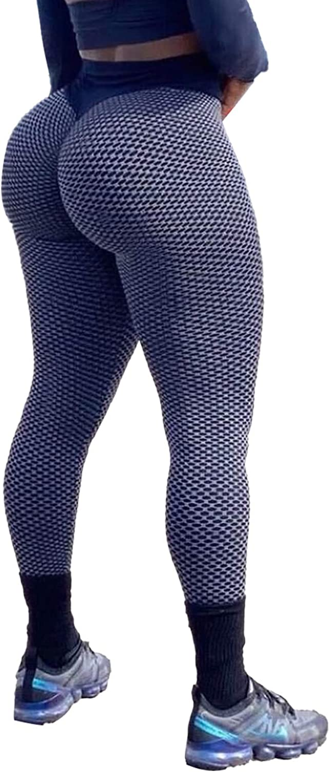 SLIMBELLE High Waist Yoga Pants Scrunched Booty Leggings for Women Anti Cellulite Workout Running Butt Lift Tights