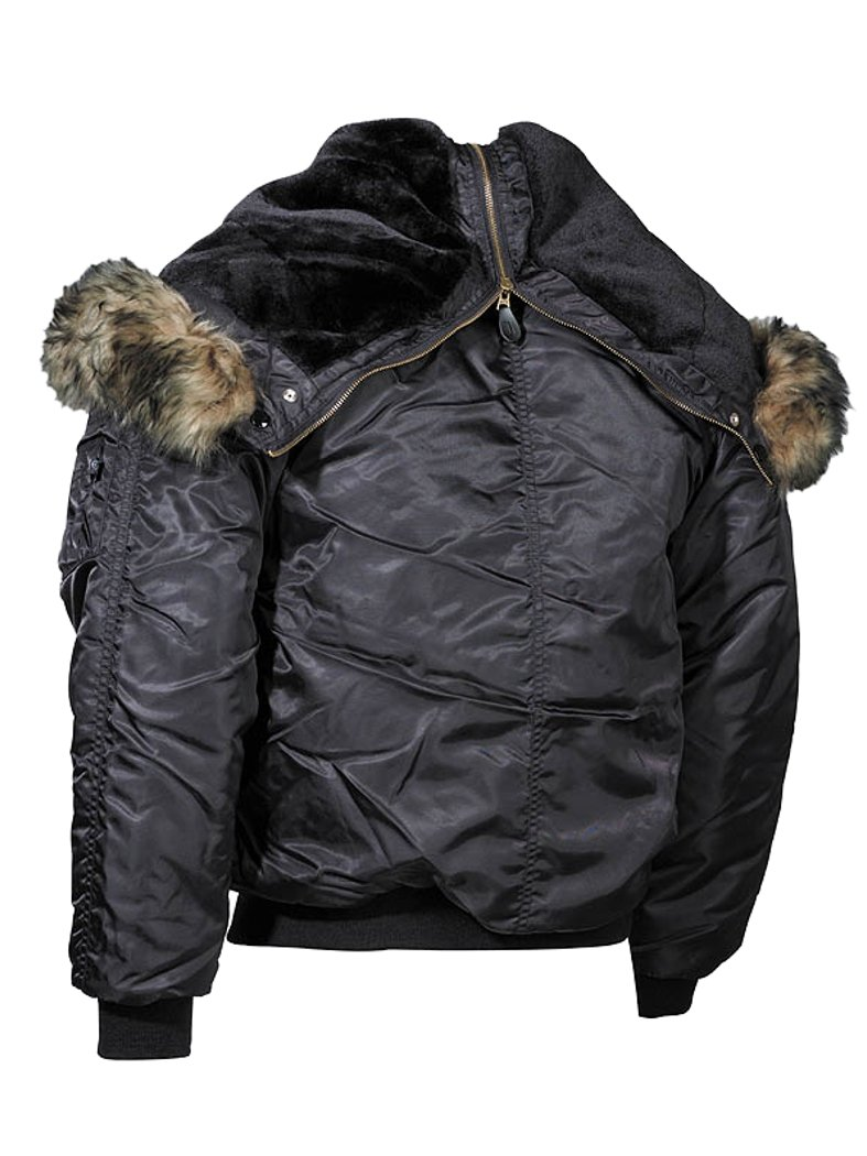 Polar Black Thick Lined Winter Jacket