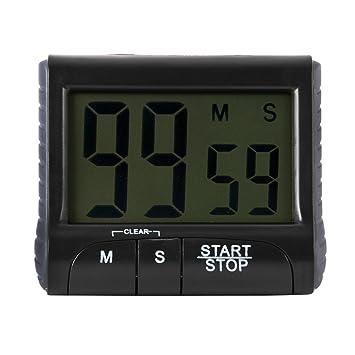 Sizet pantalla grande cuenta atrás hasta temporizador reloj temporizador digital de cocina magnético Loud Alarma Temporizador de cocina con soporte: ...