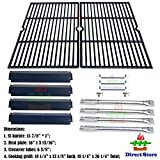 cast iron tube - Direct store Parts Kit DG166 Replacement Charbroil Commercial Gas Grill 463268606,463268007 Repair Kit (SS Burner + SS carry-over tubes + Porcelain Steel Heat Plate + Porcelain Cast Iron Cooking Grid)