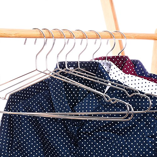 Large Product Image of Jetdio Stainless Steel Strong Metal Wire Hangers, Coat Hanger, Standard Suit Hangers, Clothes Hanger, 30 Pack