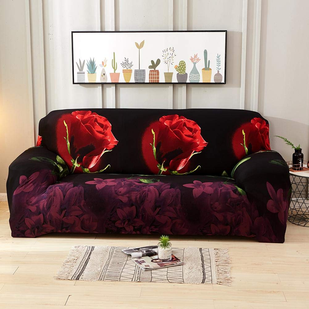 AnySell - Funda para sofá con diseño de Flores Rosas, 3 ...