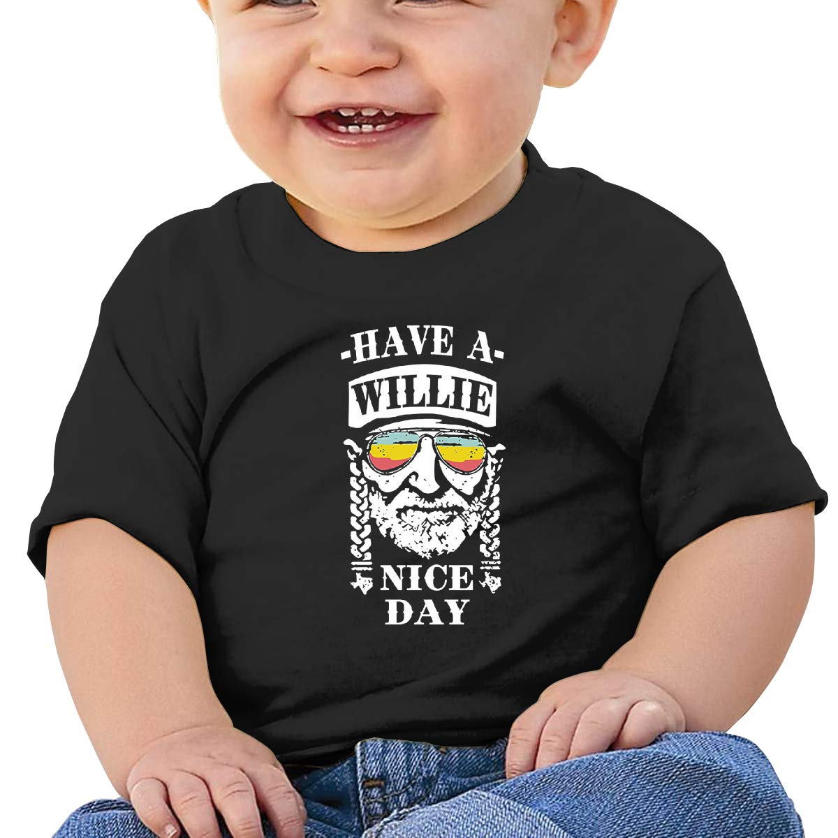 Kangtians Baby Have A Willie Nice Day Shirt Childrens Cotton Tee