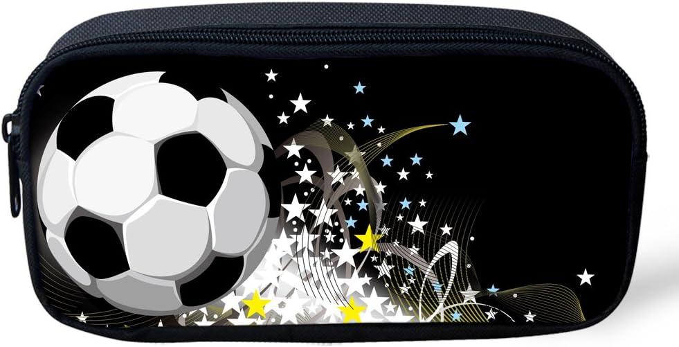 football pattern-5. H x1.77 inch x4.33 inch Trousse /à crayons cool Coloranimal pour gar/çons motif football enfants papeterie /étui /à crayons fournitures de bureau pour l/'/école 8.66 inch W L