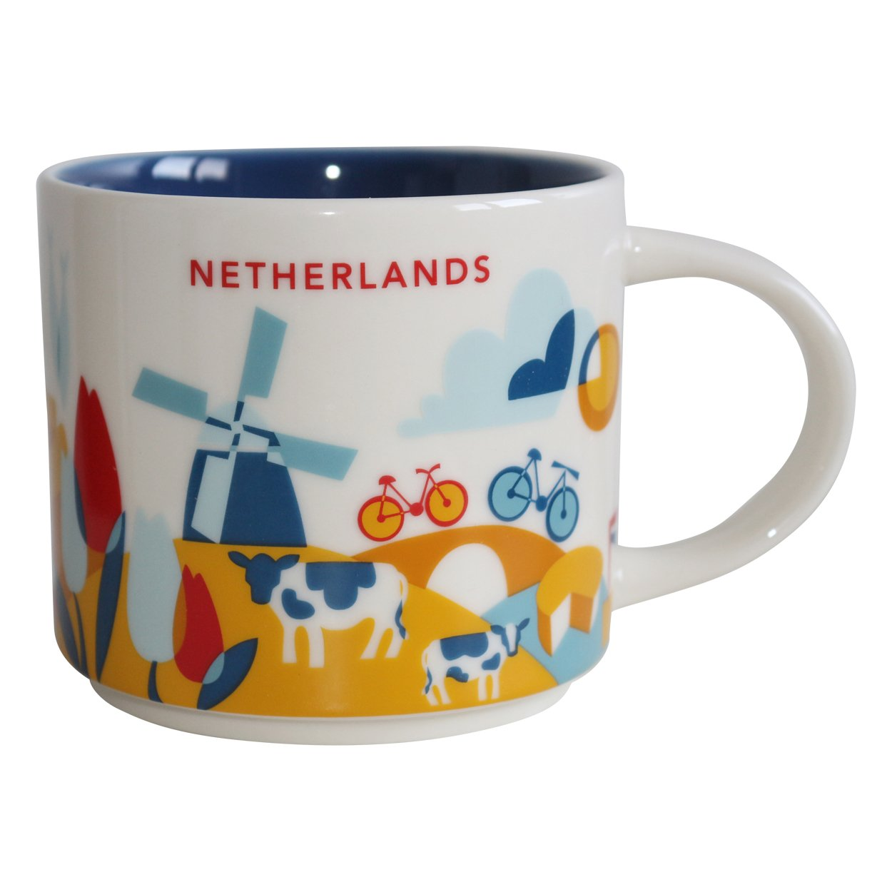 S&B Starbucks City Mug You Are Here Collection Netherlands Coffee Cup 14 oz