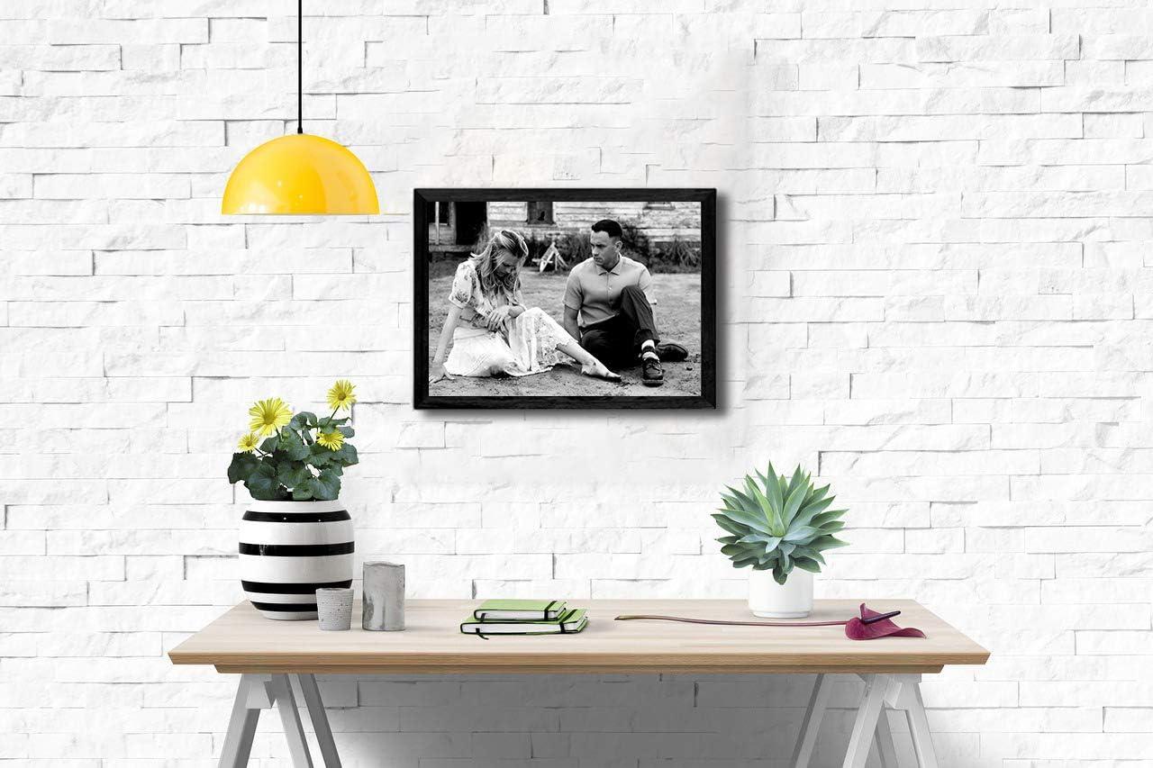 11.7 x 16.5 inches Forrest Gump Poster de cin/éma am/éricain en noir et blanc Tom Hanks avec /étoiles A3 Laminated 30 x 42cm Papier photo semi-brillant