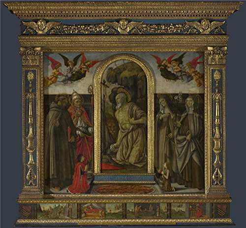 High Quality Polyster Canvas ,the High Definition Art Decorative Prints On Canvas Of Oil Painting 'Francesco Botticini S. Gerolamo Altarpiece ', 24 X 26 Inch / 61 X 66 Cm - Decorative Hamilton Vent