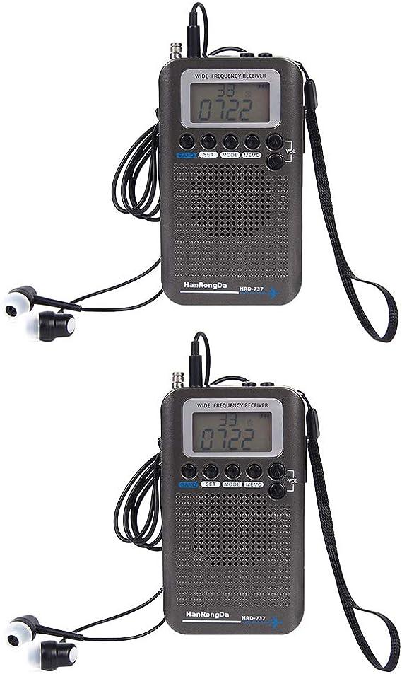 Shiwaki 2X Receptor De Radio De Banda Aérea Air FM Am CB SW ...