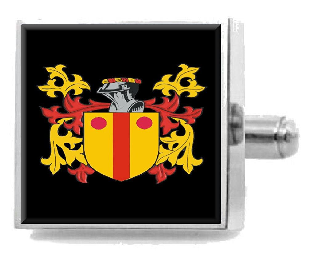 Select Gifts Maccaulay Scotland Family Crest Surname Coat Of Arms Cufflinks Personalised Case