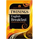 Twinings - Thé English Breakfast - lot de 4 boîtes de 50 sachets de thé