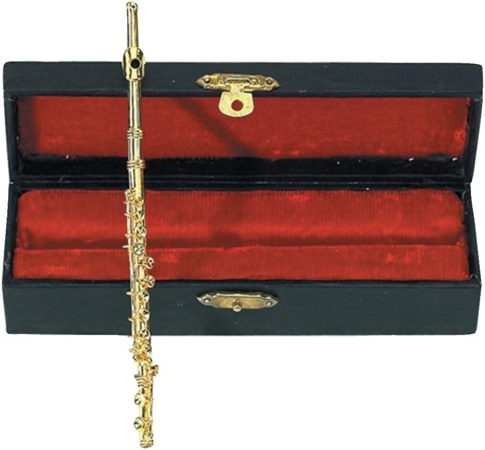 GEWA 980585 - Instrumentos en miniatura, flauta con estuche, 15 cm: Amazon.es: Instrumentos musicales