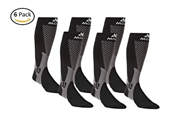 fe3a31da99 Image Unavailable. Image not available for. Color: 6 Authentic, Mojo Sports  Compression Socks for Recovery & Performance ...