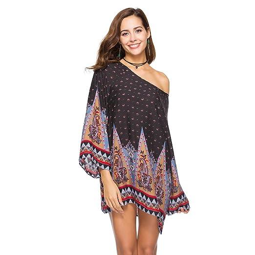 3b3095ad224 Amazon.com: Wingsenti Women's Tunic Shirts Long Sleeve Loose Casual ...