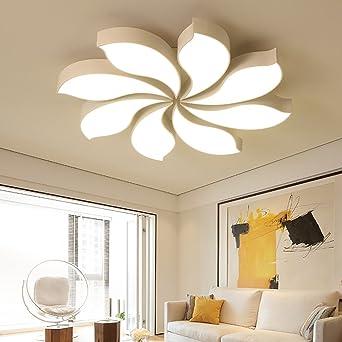 Style Home 80W LED Deckenlampe Kronleuchter Volldimmbar Mit Fernbedienung  80cm Gross Wohnzimmer Schlafzimmer Kinderzimmer U0027White
