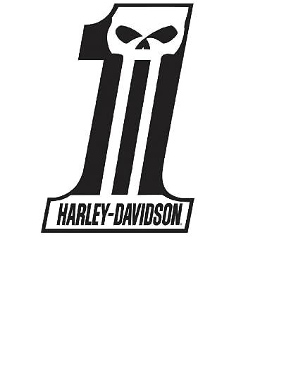 amazon com harley davidson dark custom 1 tin metal sign 12 x 18 rh amazon com harley davidson 1 logo history harley davidson 1 logo font