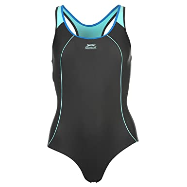 8c12405874d Slazenger Womens Racer Back Swim Suit Ladies One Piece Beachwear Swimwear   Amazon.co.uk  Clothing