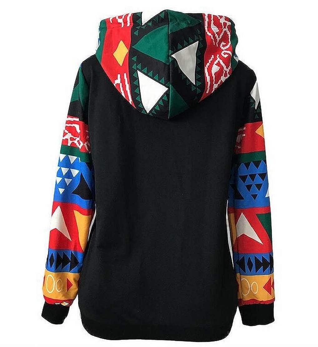 BU2H Women Drawstring Raglan Sleeve Hoodies Print Pocket Pullover Sweatshirts Top