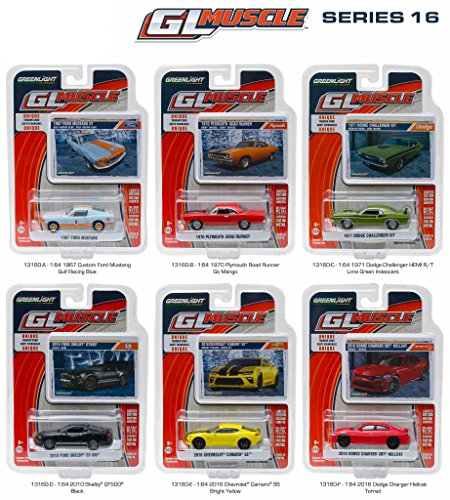 Die Cast Car Assortment - NEW 1:64 GREENLIGHT MUSCLE SERIES 16 ASSORTMENT Diecast Model Car By Greenlight Set of 6 Cars