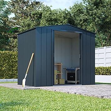 Socio parte superior cobertizo Metal jardín Apex unidad de almacenamiento Heavy-duty acero galvanizado: Amazon.es: Jardín