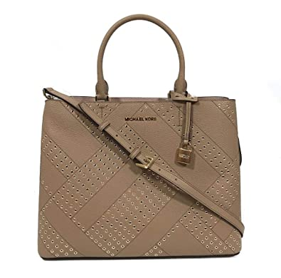 4f99effeff4e Amazon.com: Michael Kors Adele Large NS Tote Brown Leather Satchel in Dark  Khaki: Shoes