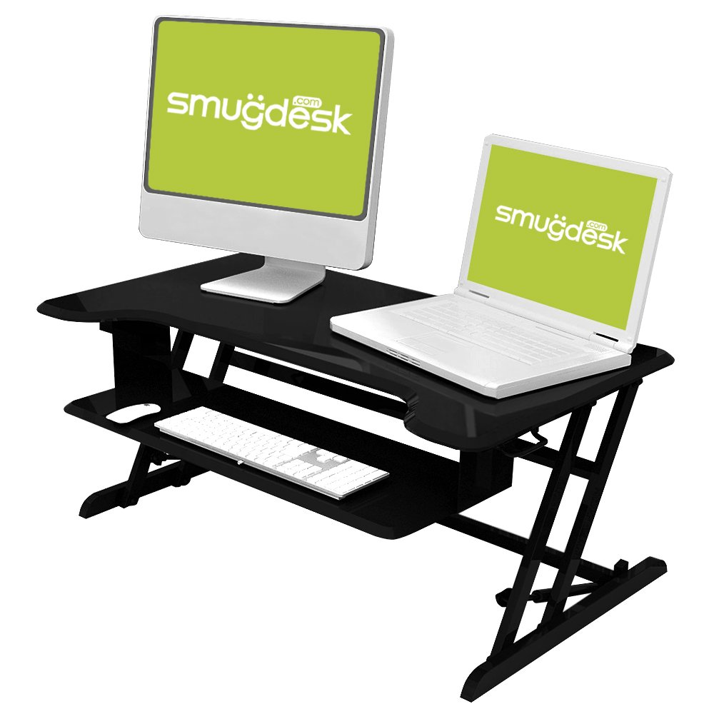 Standing Desk, Stand up Adjustable Desk Riser Converter for Desktop Laptop Dual Monitor