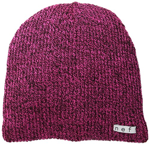Neff Men's Daily Heather Beanie, Magenta/Black, One - Men's Hat Ambassador