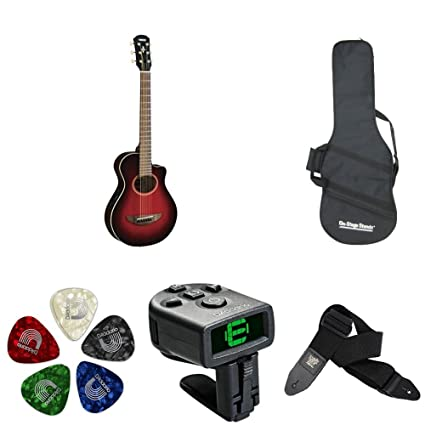 Amazon.com: Yamaha APXT2 3/4 Size Thinline Acoustic-Electric Cutaway Guitar with Accessories Bundles: Musical Instruments