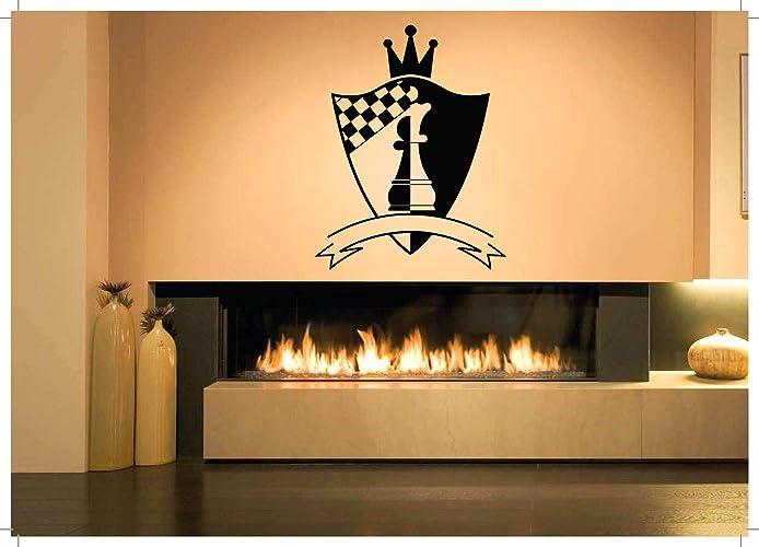 Amazoncom Vinyl Sticker Chess Poster Logo Custom Name