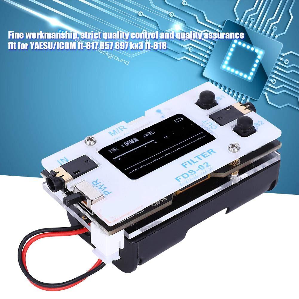 for YAESU//ICOM ft-817 857 897 kx3 ft-818 Adjustable Frequency SSB CW Amateur Radio Digital Filter with OLED Display Digital Filter Digital Signal Processing Filter