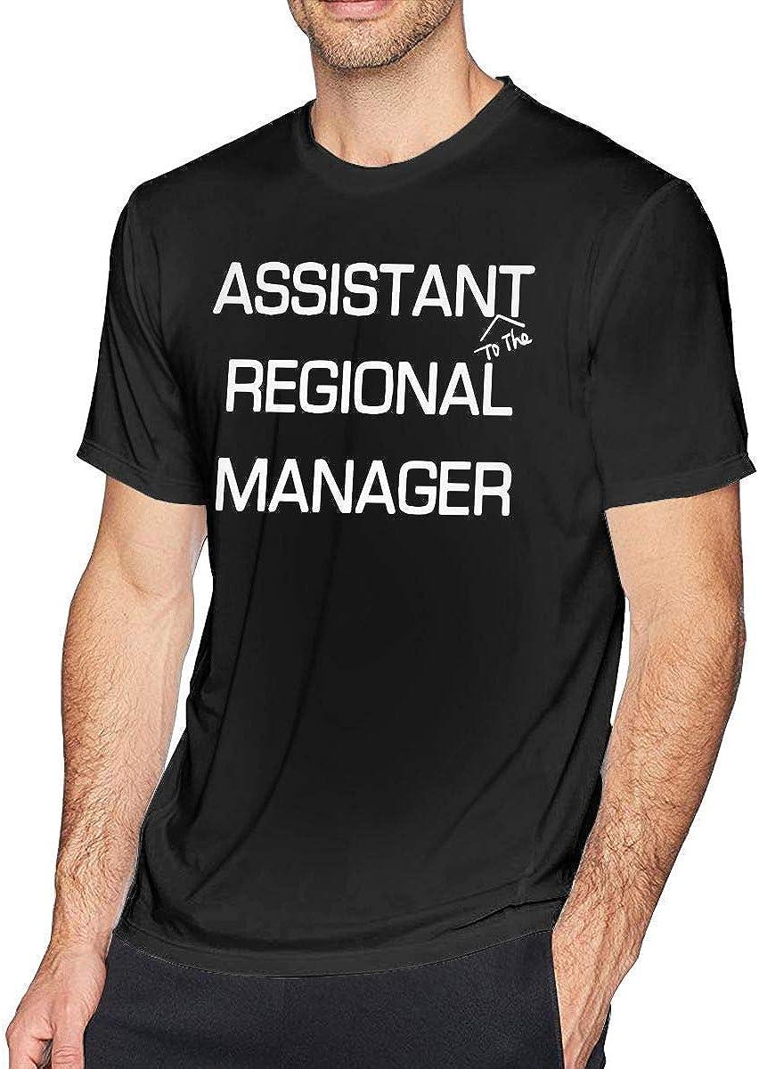 Asistente (to The) Regional Manager Camiseta de Manga Corta con Cuello Redondo para Hombre, Camiseta Informal para Hombres: Amazon.es: Ropa y accesorios